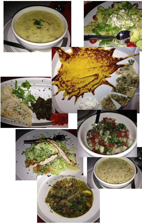 پیش غذاها در کازیوه